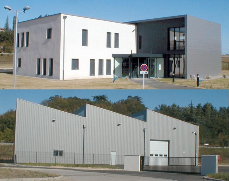 Axovision, bâtiment de bureaux et bâtiment industriel - Pont-Evêque (38)