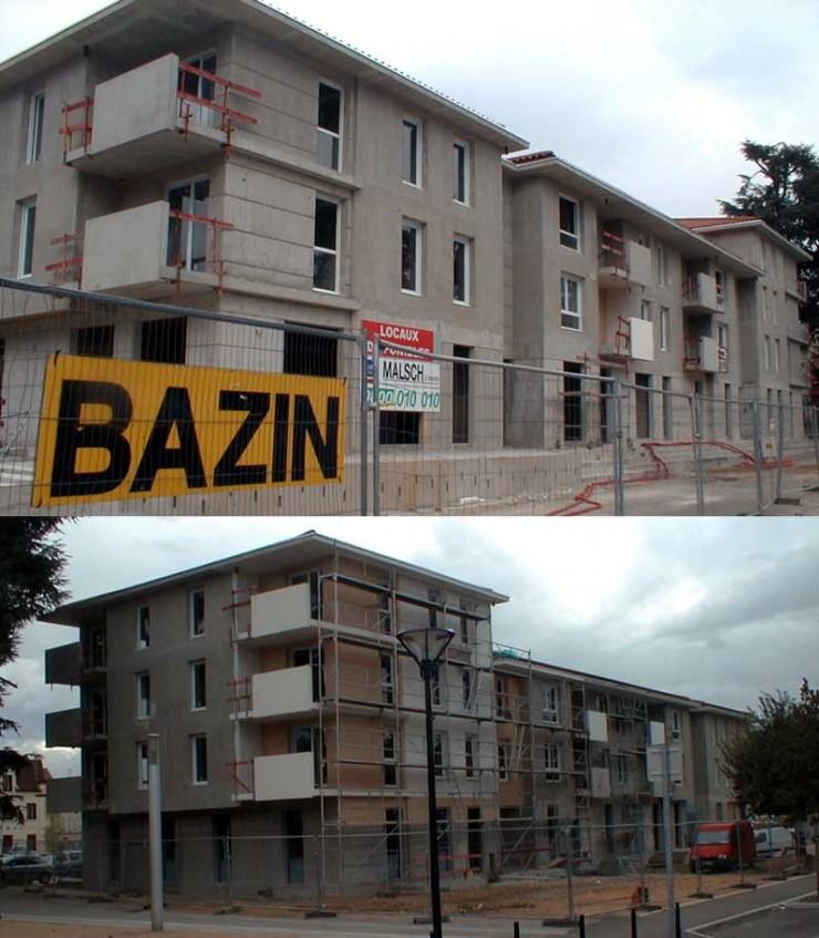 Immeuble HMF en construction - Brignais (69)