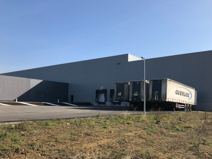 Plateforme logistique QUERLIOZ à Estrablin (38)